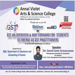 "Webinar on ""Gst An Overview & Way Forward For Students To Emerge As Gst Practitioners"""