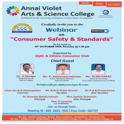 "Webinar on ""Consumer Safety & Standards"